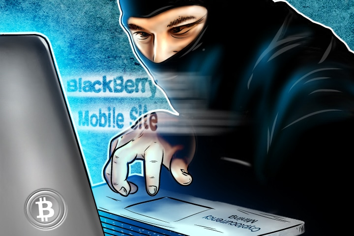 Cryptocurrency Mining Hackers Target BlackBerry Mobile Site (1)