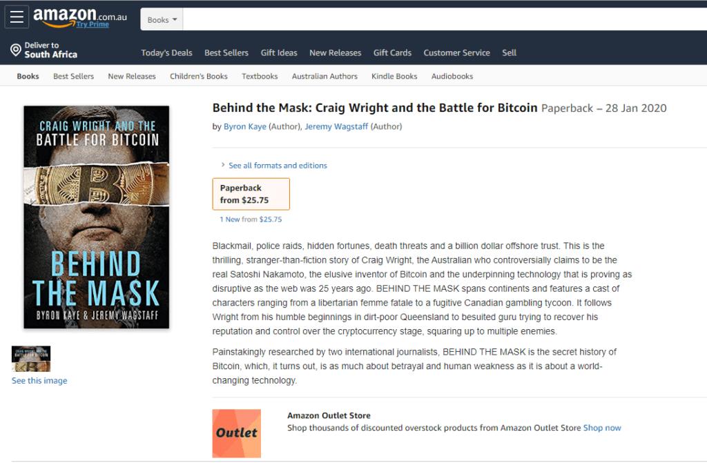 Craig Wright Amazon book
