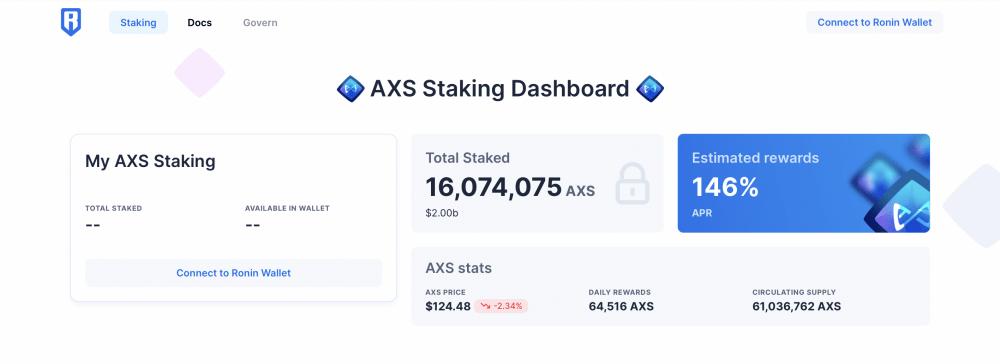 AXS staking dashboard, Axie Infinity, AXS APR, AXS rewards, AXS unstable, AXS claim rewards